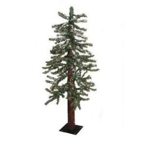 3 Snowy Flocked Alpine Artificial Christmas Tree   Unlit