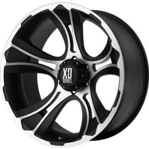 XD XD801 17x9 Machined Black Wheel / Rim 8x180 with a 0mm Offset and a