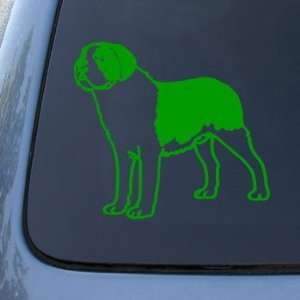 Dog   Vinyl Car Decal Sticker #1563  Vinyl Color Green Automotive