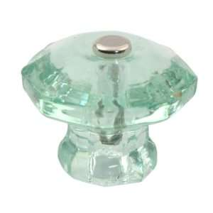 Depression Green Glass Knobs 1 1/2