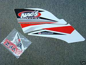 Nacs Racing atv graphics kit YFZ450 yfz red/wh nacs