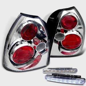 Eautolights 96 00 Honda Civic 3 Dr Hatch Tail Lights + LED