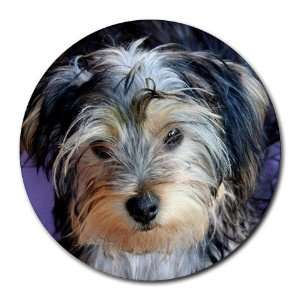Yorkshire Terrier Puppy Dog 3 Round Mousepad BB0654
