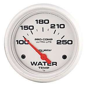 Auto Meter 4437 Ultra Lite 2 5/8 100 250 F Short Sweep Electric Water