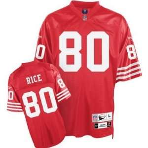 Jerry Rice #80 San Francisco 49ers NFL Retired Premier