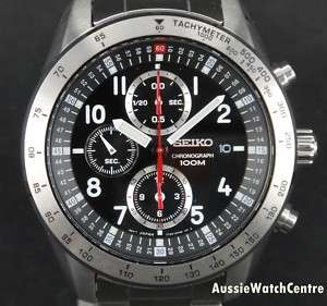 NEW* SEIKO MENS CHRONOGRAPH WATCH 100M   SNDB59P1