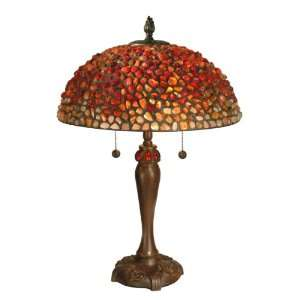 Dale Tiffany TT60180 Katella Table Lamp, Antique Bronze and Art Glass