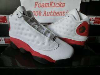 Nike Air Jordan 13 XIII Retro GS White/Varsity Red 414574 101 Girl Boy