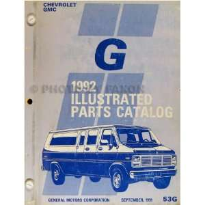 Van Parts Book Original Beauville Rally Vandura General Motors Books