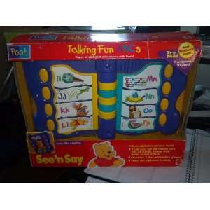 The Pooh   Electronic Talking Fun ABCS See n Say Toys & Games