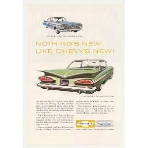 1959 Chevy Bel Air 4 Door Sedan Impala Sport Coupe Print