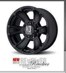 XD Revolver 20x10 Matte Black Wheels Ford Dodge Chevy
