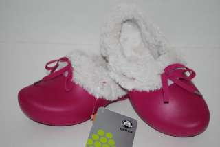 GRETEL BERRY PINK faux fur dutch clogs shoes 6/7 8/9 12/13 2J