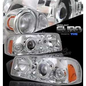 00 06 GMC Sierra Denali Projector Headlights   Chrome by