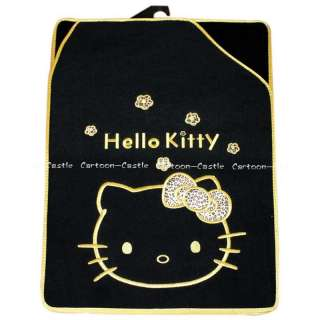 Hello Kitty Auto Car Plush Floor Mat Carpet Black 5pcs