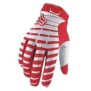 Fox Racing Airline Gloves   Large/Red Automotive