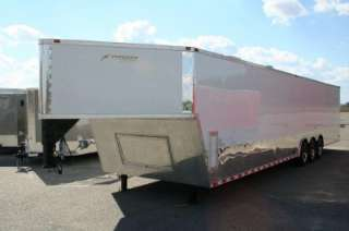 5x40 ENCLOSED CARGO AUTO CAR HAULER RACE TRAILER GOOSENECK WHITE V