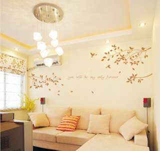 Tree and bird Wall Decor Decal Sticker Removable Vinyl