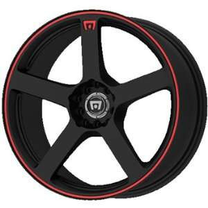 Motegi MR116 16x7 Black Wheel / Rim 4x100 & 4x4.25 with a 40mm Offset