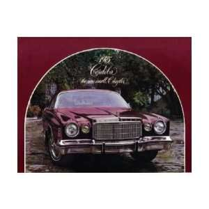 1975 CHRYSLER CORDOBA Sales Brochure Literature Book Automotive