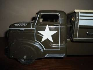 Marx Army USA 41573147 Tin & Pressed steel Truck 13 1/2 Long