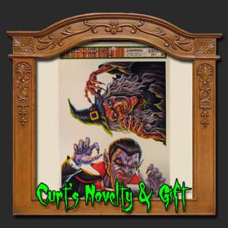 WINDOW CLING DRACULA & WITCH Halloween Haunted House