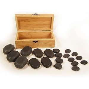 Professional Hot Stone Massage Set   20 Piece Basalt Stone