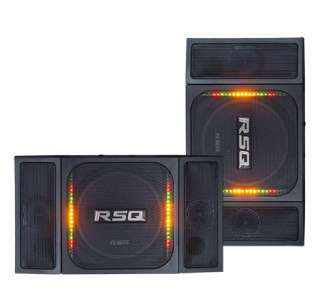 RSQ VA400 3 WAY 350 WATT SPEAKERS   SOUND ACTIVATED LED