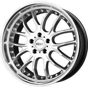 New 18X8.5 5 108 Voxx Hyper Silver Machined Wheel/Rim