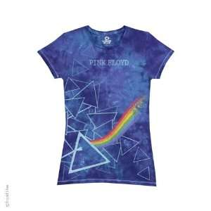 Pink Floyd Prisms Ladies T Shirt (Tie Dye), XL Sports