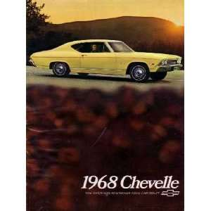 1968 CHEVROLET CHEVELLE Sales Brochure Literature Book