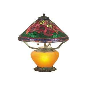 Dale Tiffany TT60918 Poppy Tiffany 4 Light Table Lamps in