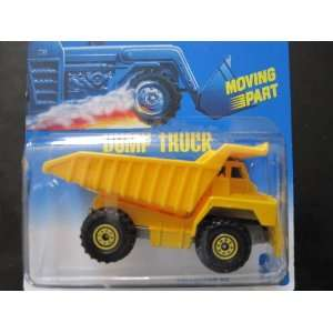 Dump Truck #38 1992 Hot Wheels on Blue White Card with Yellow Cts and