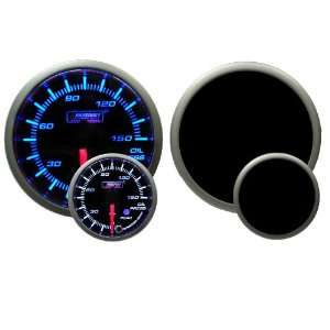 Oil Pressure Gauge with Peak and Warning Electrical Blue/white Premium