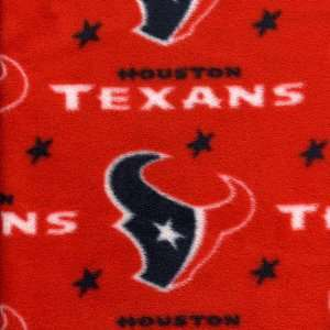 NFL Houston Texans Polar Fleece Fabric   Per Yard  Sports