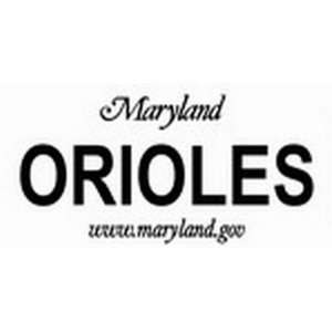 Maryland State Background License Plates   Orioles Plate Tag Tags auto