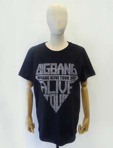 BIGBANG Alive Tour 2012 OFFICIAL BLACK T SHIRT NEW