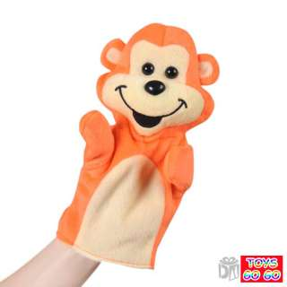 Orange Monkey Puppet,Plush Baby Toy,Party Favours,PU022