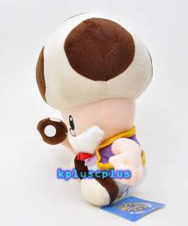 Super Mario Bros Plush Doll Toy   Toad Old Toadsworth 10