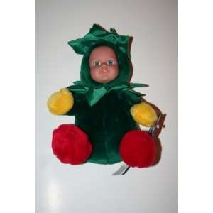 Christmas Baby in Green Plush Doll Toys & Games
