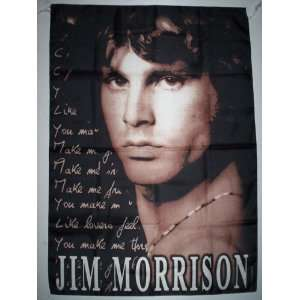 JIM MORRISON 5x3 Feet Cloth Textile Fabric Poster