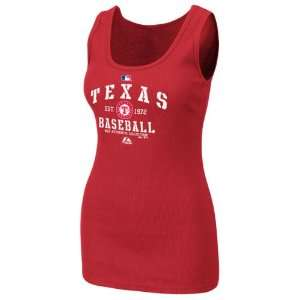 Texas Rangers Womens Authentic Collection Red Classic