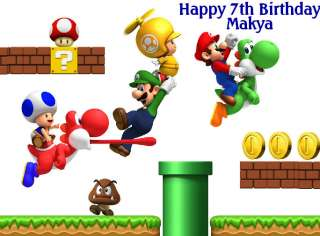Edible Cake Topper Super Mario Bros 1/4 sheet #7