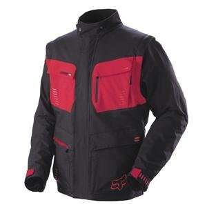 Fox Racing Panther Jacket   Large/Black/Red Automotive