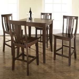 5 pc Pub Dining Set with Cabriole Leg and Shield Back
