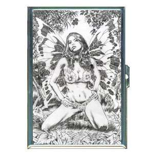 Sexy Fairy Girl Pin Up Art ID Holder, Cigarette Case or Wallet MADE