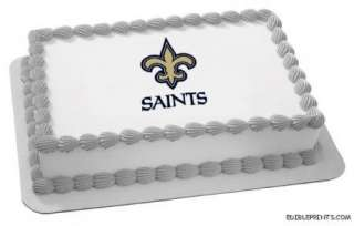 New Orleans Saints Edible Image Icing Cake Topper