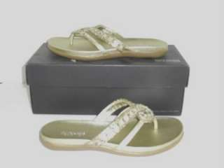 Cole Reaction 6.5 M EU 37 Glam Life Gold Sandal Flip Flop Womans Shoes