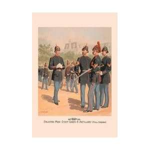 Enlisted Men Staff & Artillery (Full Dress) 28x42 Giclee