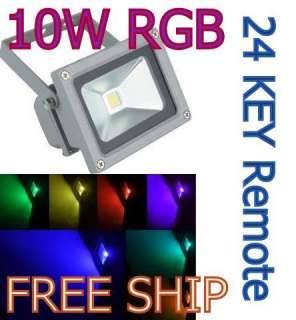 FREE SHIP 10W LED RGB COLOR SPOTLIGHT Flood Light Lamp 85 265V